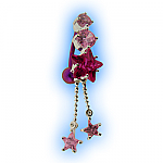 Elegance Belly Bar - Pink Reverse Britney Star Dangle