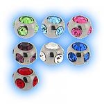 Stainless Steel Screw On Multi Jewel Ball - 1.2mm (16g)