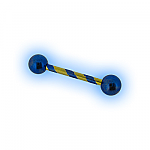 Blue Gold Candy Titanium Scaffold Industrial Barbell