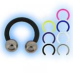 Bioplast 1.6mm (14G) Circular Barbell - Steel Balls