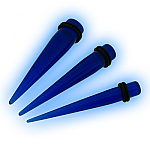 Set 3 Acrylic Blue Straight Expanders Kit