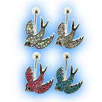 Multi Jewelled Swallow Bird Belly Bar