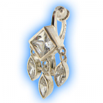 Clip on Belly Ring Clear Ethnic Elegance