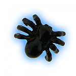 Black PVD Screw On Spider- 1.6mm (14g)
