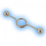 Unusual Ear Scaffold Piercing Barbell Steel - Loop