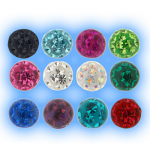 1.2mm Resin Coated Screw On Crystal Disco Ball