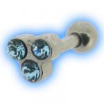 Dainty Gem Cluster Ear Stud