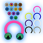 Bioplast 1.2mm (16G) Circular Barbell - Titanium Balls
