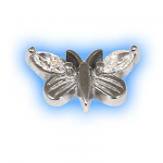 Stainless Steel Screw On Jewelled Butterfly - 1.2mm (16g)