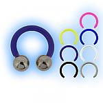 Bioplast 1.2mm (16G) Circular Barbell - Steel Balls