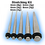 Steel Straight Ear Stretching Expander Kit (5 taper)