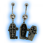 Halloween Coffin with Skeleton Belly Bar