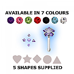 Steel Straight Nose Stud Mixed Value Set - Shapes