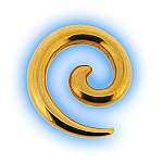 Stainless Steel Ear Stretching Spiral Gold Plated