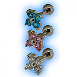 Tragus or Upper Ear Stud - Flower