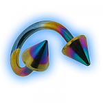 Titanium Sprial Twister With Cones - 1.6mm (14g)