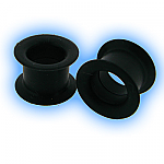 Black Flexible Silicone Flesh Tunnel