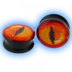 Acrylic Screw Plug Gecko Eye