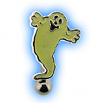 Halloween Reverse Ghost Belly Bar