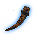 Wooden Curved Taper - Coconut Wood