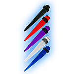Coloured Ear Stretching Expander - Straight Acrylic