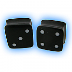 Square Ear Stretching Plug - Lucky Dice
