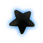 Black PVD Screw On Star - 1.6mm (14g)