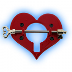 Red Heart Nipple Shield with Key Barbell