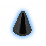 Black PVD Screw On Cone - 1.2mm (16g)
