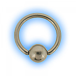 1.6mm (14g) Stainless Steel Ball Closure Ring - Plain Ball