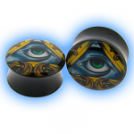 Acrylic Saddle Plug All Seeing Eye