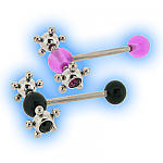 Tongue Bar with acrylic spinner