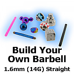 Build Your Own Straight Barbell 1.6mm (14G)