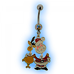 Christmas Belly Bar - Santa and Rudolph