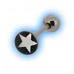 White Star Picture Disc Tongue Stud Bar