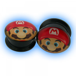 Acrylic Screw Plug Mario