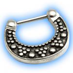 Decorative Horseshoe Hinged Septum Clicker