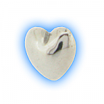 Stainless Steel Screw On Heart Top - 1.2mm (16g)