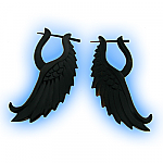Pair of Organic Carved Earrings - Wings
