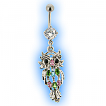 Exotic Jewelled Owl Belly Bar