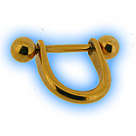 Gold Plated Steel Nipple Stirrup & Barbell