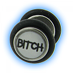 Bitch Design Fake Plain Ear Stretching Plug