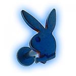 Blue Playboy Internally Threaded Labret