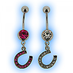 Belly Bar - Lucky Horseshoe Dangle