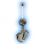 Clear Footsteps Pregnancy Belly Bar