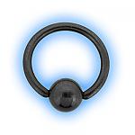 1.6mm (14g) Titanium Black PVD Ball Closure Ring - Plain Ball