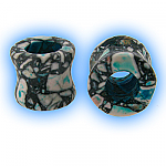 Ear Stretching Tunnel Blue Agate Stone Eyelet