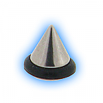 Stainless Steel Screw On Cone with O Ring - 1.2mm (16g)