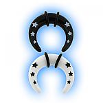 Star Acrylic Ear Stretching Taper - Buffalo Crescent