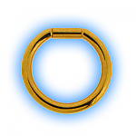 1.2mm (16g) Gold Plated Steel Bar Closure Ring